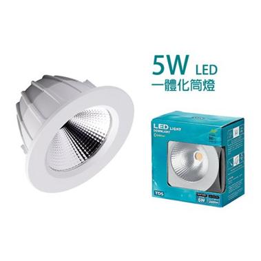 TDS – LED 3.5寸筒燈 5W DC 1635
