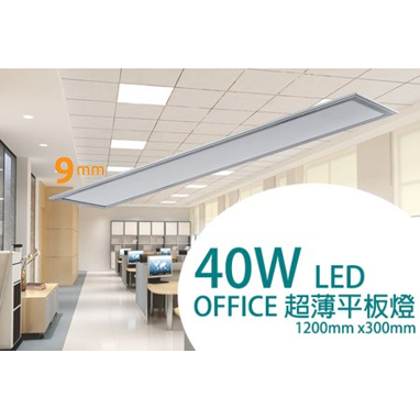 TDS – LED Office超薄平板燈 40W RS1312 / RS1312E / RS1312D (調光系列)