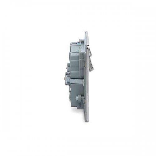 BG – 2USB3.1A雙位有掣平面13A不銹鋼插座/蘇底-光面鉻鋼色 (型號 : FPC22U3G)