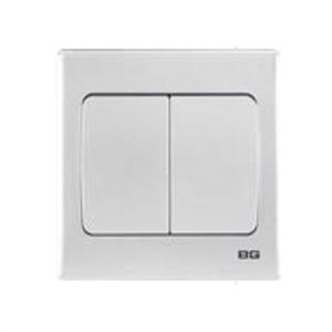 BG – 2位單向10A開關 -銀色 (型號 : PCSL42W)
