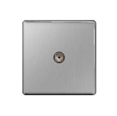 BG – 1位同軸插座 -拉絲鋼色/光面鉻鋼/光面镍黑 (型號 : FBS60/FPC60/FBN60)