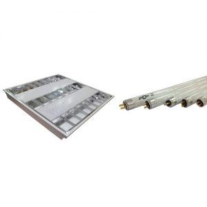 STORM 黑旋風 – T5暗裝反射燈盤連光管套餐 T5-F0142/T5-F0143/T5-F0282/T5-F0283/T5-F1143/T5-F1282/T5-F1283