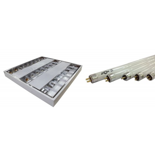 STORM 黑旋風 – T5明裝反射燈盤連光管套餐 T5-F0143A/T5-F0282A/T5-F0283A