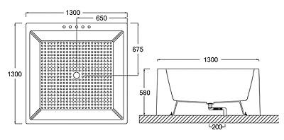Bellini – 纖維浴缸 BU-1296
