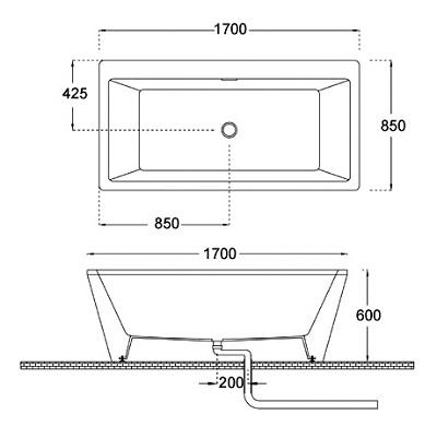 Bellini – 纖維浴缸 BU-1244