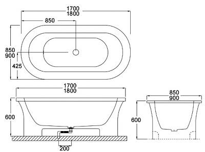 Bellini – 纖維浴缸 BU-0140