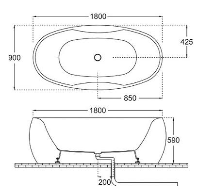 Bellini – 纖維浴缸 BU-148