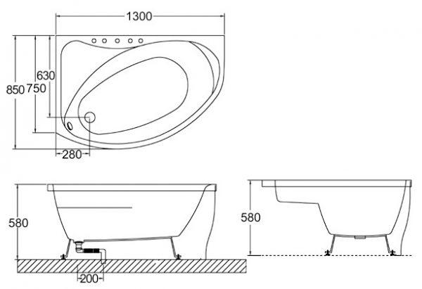 Bellini – 纖維浴缸 BU-0184