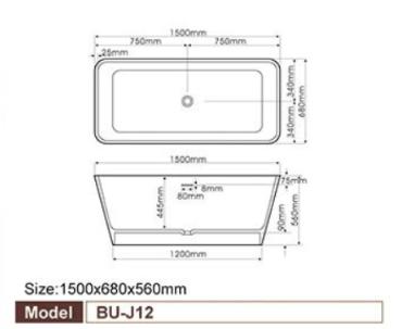 Bellini – 浴缸 BU-J12