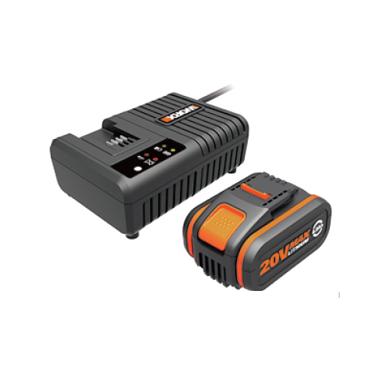 WORX 威克士 – 20V 鋰電電池(4AH)/充電器(6A)套裝 WA3609
