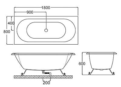 Bellini – 纖維浴缸 BU-3616