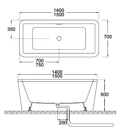 Bellini – 纖維浴缸 BU-1216