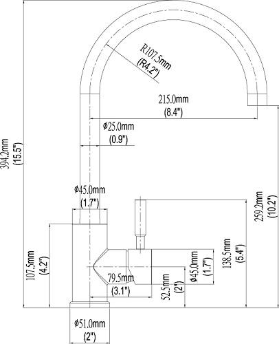 Bellini – 304 不銹鋼星盆龍頭 C33