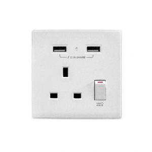 MIIK – 2.1A 單USB充電面板 (光亮白系列) 新版 AP105AP-W