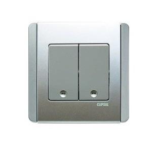 Schneider 施耐德 – 10A 兩位單控直按板開關掣連LED指示燈 E3032V1 EWWW /E3032V1 EBGS