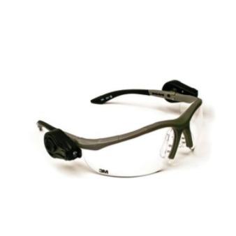 3M – Light Vision 2, 透明防霧鏡片 (外掛 LED電筒,可調整鏡框)