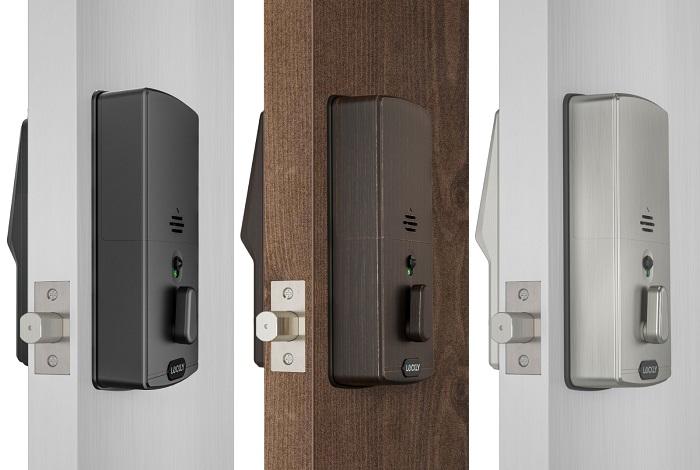 Lockly - 電子指紋門鎖 - Pin Genie 專利防偷窺按鍵 + 3D指紋 + 藍牙 + 鎖匙, 智能平頭鎖 PGD728F