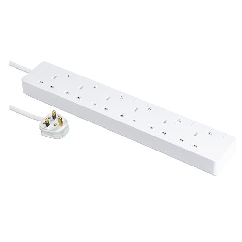 Schneider 施耐德 – 六位拖板 – 13A 電源插座連獨立開關及LED指示燈 (連3米線)