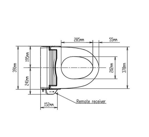 American Standard – Pristine 搖控智能廁板 (全功能型)