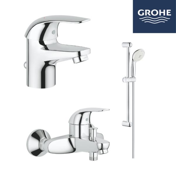 Grohe 高儀 – EUROECO系列浴室龍頭花灑套裝 (配浴缸龍頭)