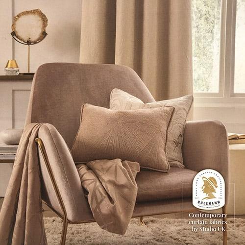 窗簾女皇 – 型格英國進口遮光布窗簾 QA-UK-03